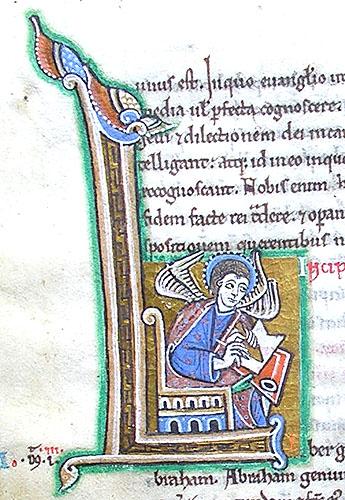 12 1167:1183 st albans ange de st matthieu Cambridge  St John's Collège MS 183 (G. 15) folio 10v
